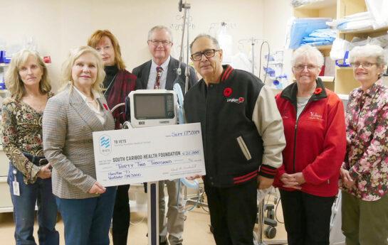 TB Vets donates respiratory equipment to 100 Mile Hospital