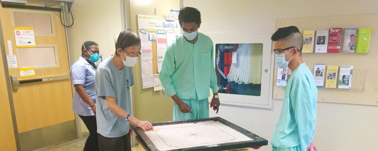 TB Vets Ward at VGH - Patients Playing Carrom Board
