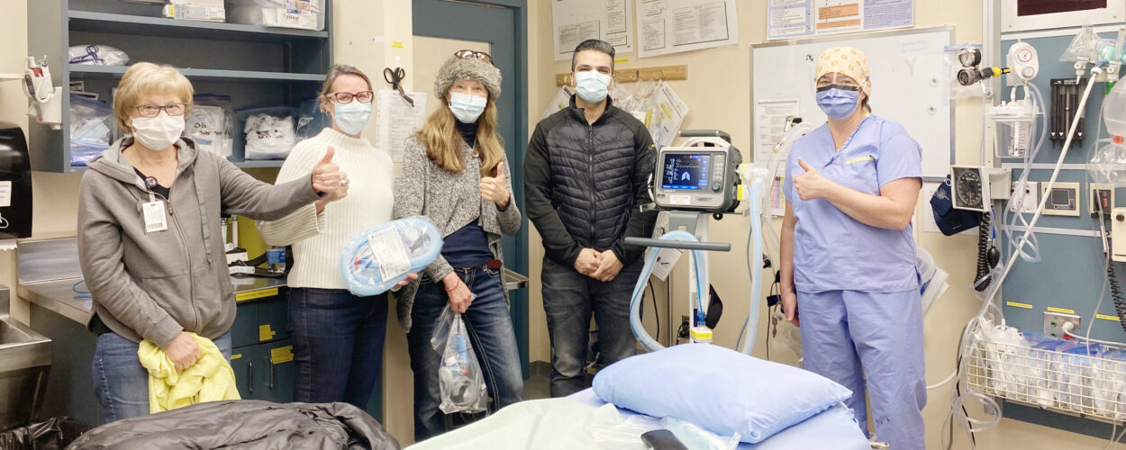 Whistler Health Care Centre with TB Vets-funded Transport Ventilator